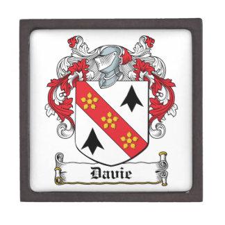 Escudo de la familia de Davie Caja De Regalo De Calidad