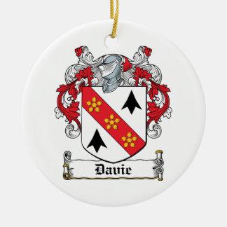 Escudo de la familia de Davie Ornamento Para Arbol De Navidad