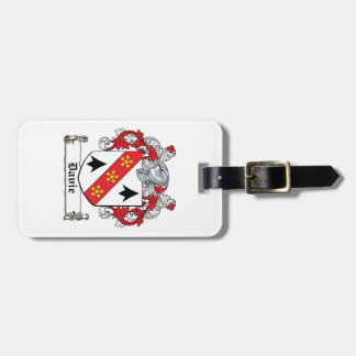 Escudo de la familia de Davie Etiquetas Bolsas