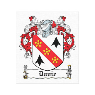 Escudo de la familia de Davie Impresiones En Lona