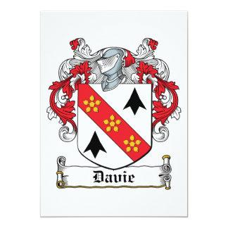 Escudo de la familia de Davie Invitación 12,7 X 17,8 Cm