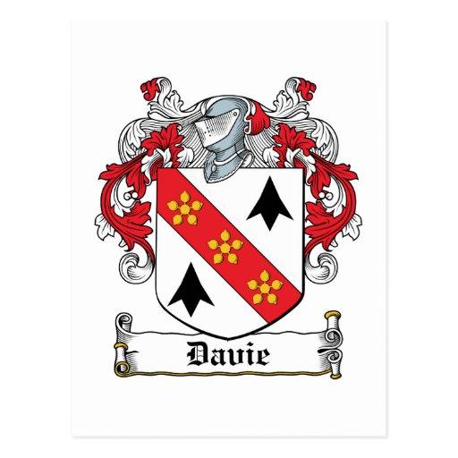 Escudo de la familia de Davie Postales
