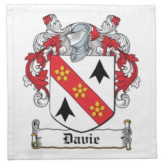 Escudo de la familia de Davie Servilleta Imprimida