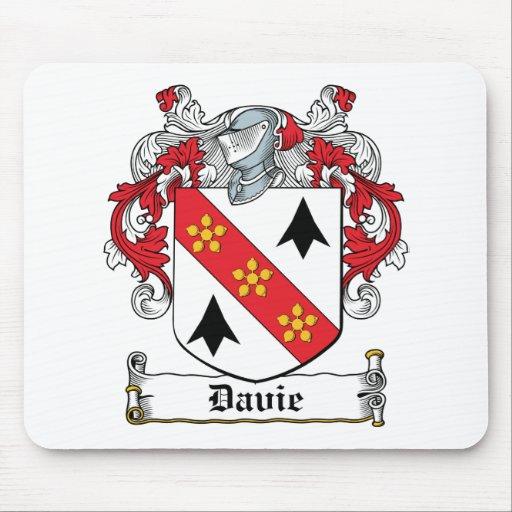 Escudo de la familia de Davie Tapetes De Ratón