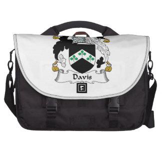 Escudo de la familia de Davis Bolsas De Portátil