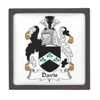 Escudo de la familia de Davis Cajas De Recuerdo De Calidad