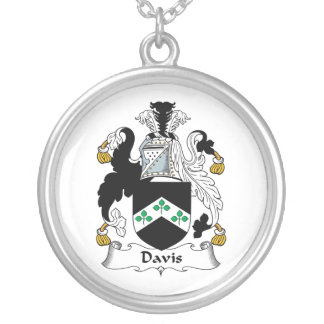 Escudo de la familia de Davis Colgante Redondo