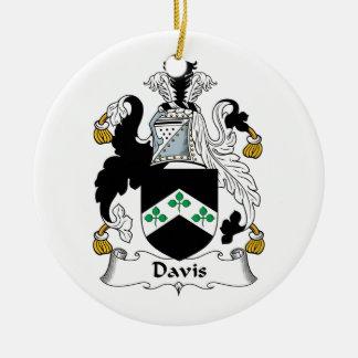 Escudo de la familia de Davis Adorno Redondo De Cerámica