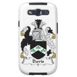 Escudo de la familia de Davis Galaxy SIII Protectores