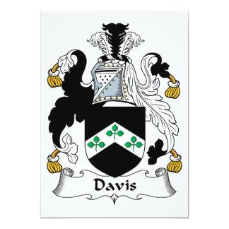 """Escudo de la familia de Davis Invitación 5"""" X 7"""""""