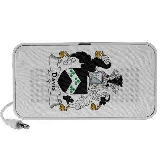 Escudo de la familia de Davis iPhone Altavoz
