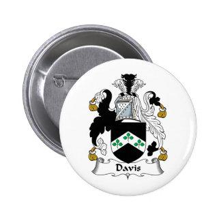 Escudo de la familia de Davis Pin Redondo 5 Cm
