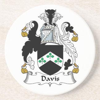 Escudo de la familia de Davis Posavasos Diseño