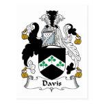 Escudo de la familia de Davis Postales