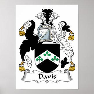 Escudo de la familia de Davis Póster