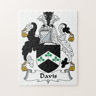 Escudo de la familia de Davis Puzzles