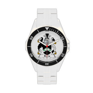 Escudo de la familia de Davis Relojes De Mano