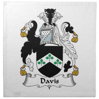Escudo de la familia de Davis Servilleta