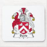 Escudo de la familia de Davis Alfombrillas De Raton