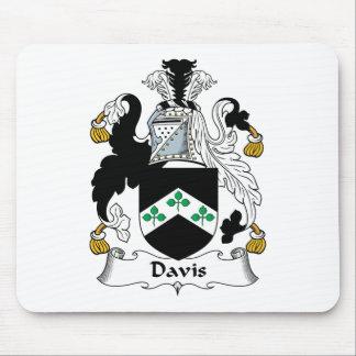 Escudo de la familia de Davis Tapetes De Ratón