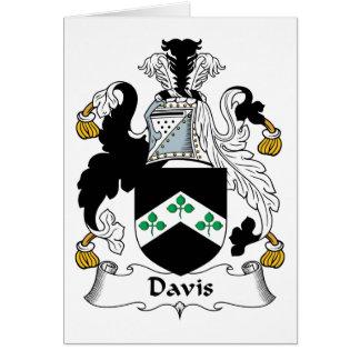 Escudo de la familia de Davis Tarjeta De Felicitación