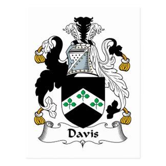 Escudo de la familia de Davis Tarjetas Postales