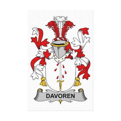 Escudo de la familia de Davoren Impresion En Lona