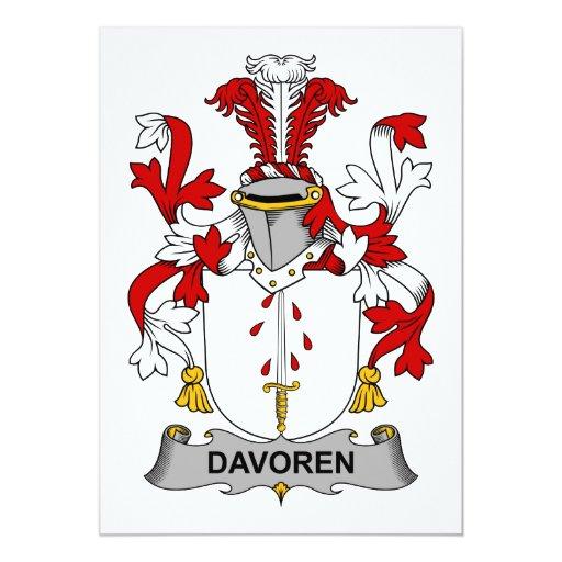 """Escudo de la familia de Davoren Invitación 5"""" X 7"""""""