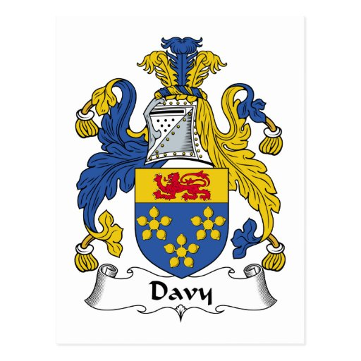 Escudo de la familia de Davy Tarjeta Postal