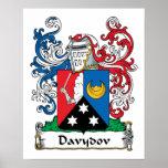 Escudo de la familia de Davydov Posters