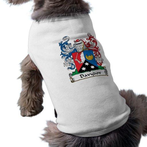 Escudo de la familia de Davydov Camisas De Perritos