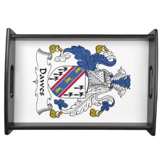 Escudo de la familia de Dawes Bandejas