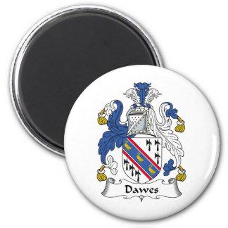 Escudo de la familia de Dawes Imán Redondo 5 Cm
