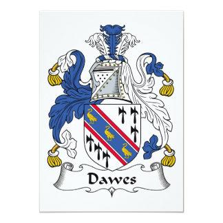"""Escudo de la familia de Dawes Invitación 5"""" X 7"""""""