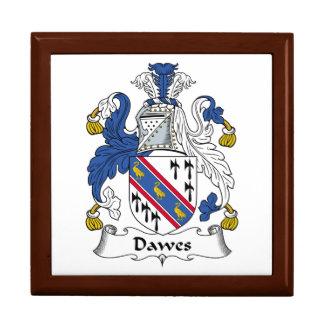 Escudo de la familia de Dawes Joyero Cuadrado Grande