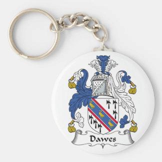 Escudo de la familia de Dawes Llavero Redondo Tipo Pin