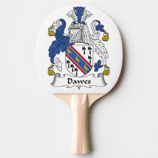 Escudo de la familia de Dawes Pala De Tenis De Mesa