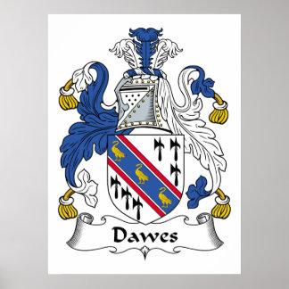 Escudo de la familia de Dawes Póster