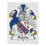 Escudo de la familia de Dawes Posters