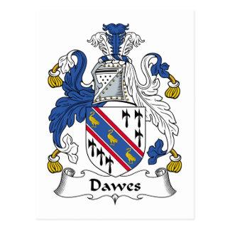 Escudo de la familia de Dawes Tarjeta Postal