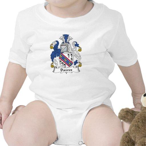 Escudo de la familia de Dawes Traje De Bebé