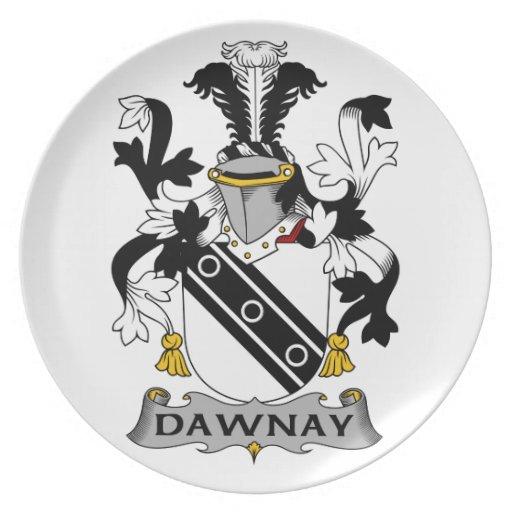 Escudo de la familia de Dawnay Platos De Comidas
