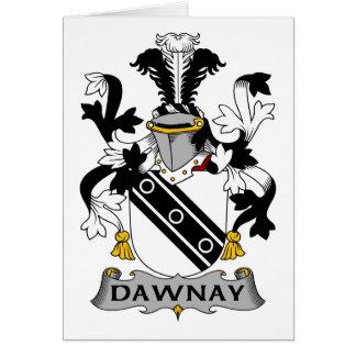 Escudo de la familia de Dawnay Tarjeta De Felicitación