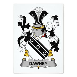 """Escudo de la familia de Dawney Invitación 5"""" X 7"""""""