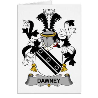 Escudo de la familia de Dawney Tarjeta De Felicitación