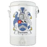 Escudo de la familia de Dawson Vaso Enfriador Igloo