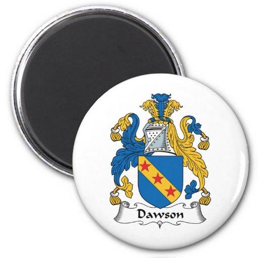 Escudo de la familia de Dawson Imán Redondo 5 Cm