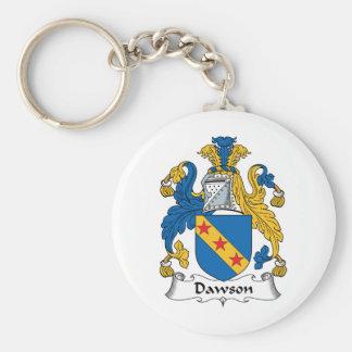 Escudo de la familia de Dawson Llaveros Personalizados