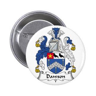 Escudo de la familia de Dawson Pin Redondo De 2 Pulgadas