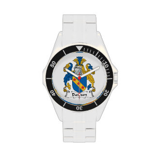 Escudo de la familia de Dawson Reloj